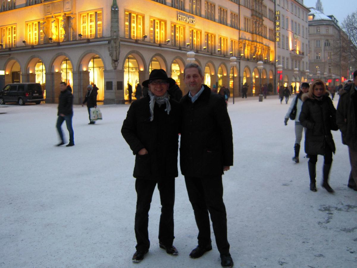ミュンヘン講演、時ならぬ大雪☃0
